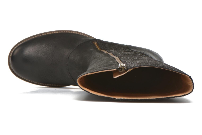 Stiefel Kickers Pennyho schwarz ansicht von links