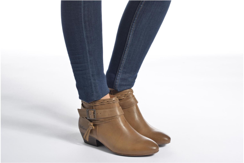 Bottines et boots Kickers Westboots Marron vue bas / vue portée sac