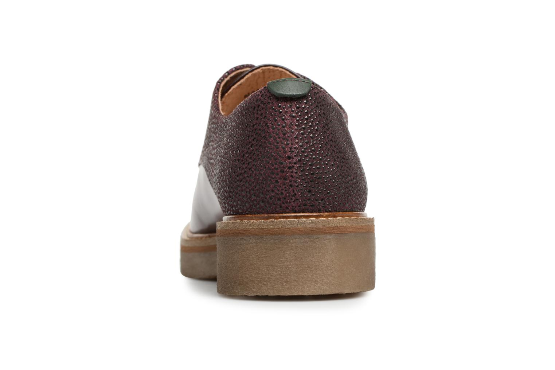 Chaussures à lacets Kickers Oxfork Bordeaux vue droite