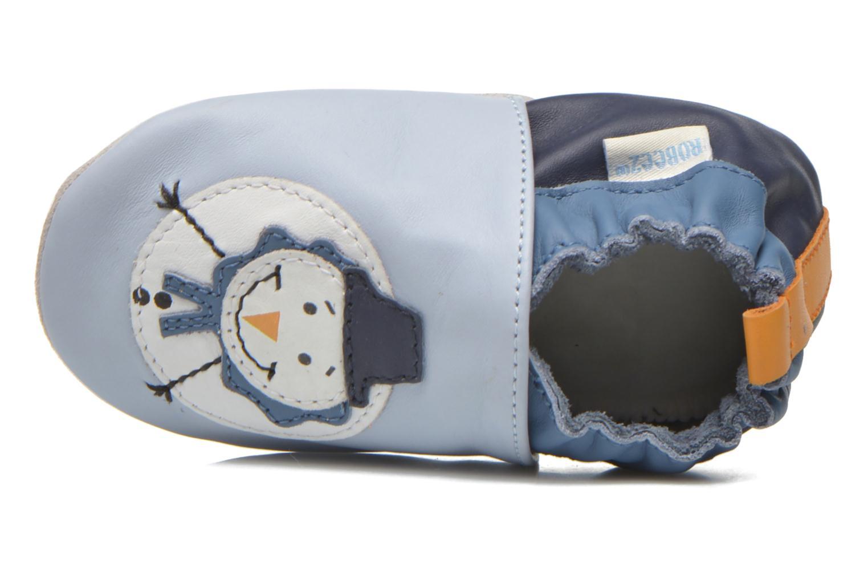 Pantuflas Robeez Snow Party Azul vista lateral izquierda