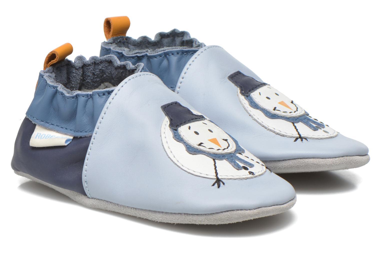 Pantuflas Robeez Snow Party Azul vista de detalle / par