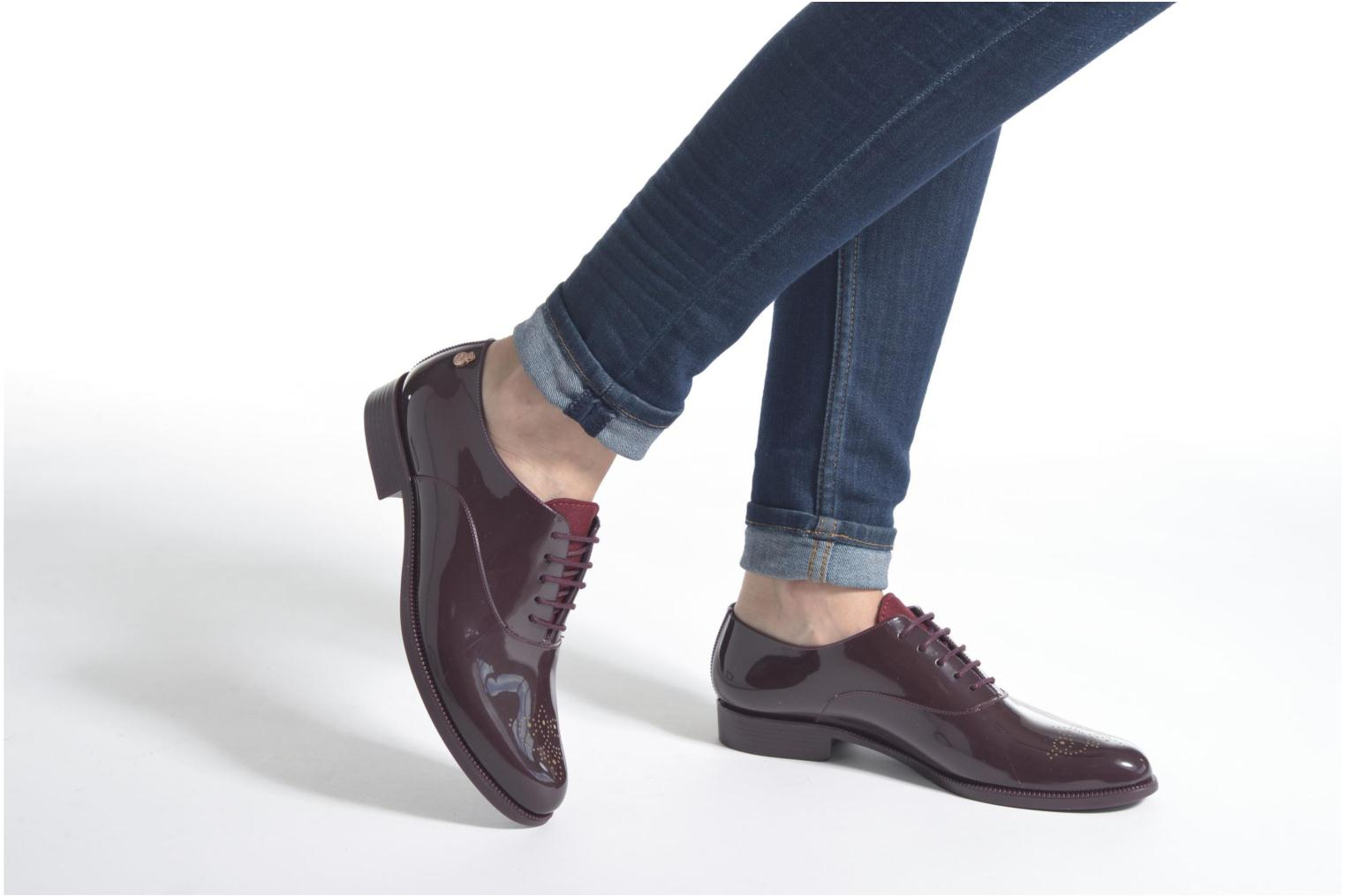 Lace-up shoes Lemon Jelly Jeny Burgundy view from underneath / model view