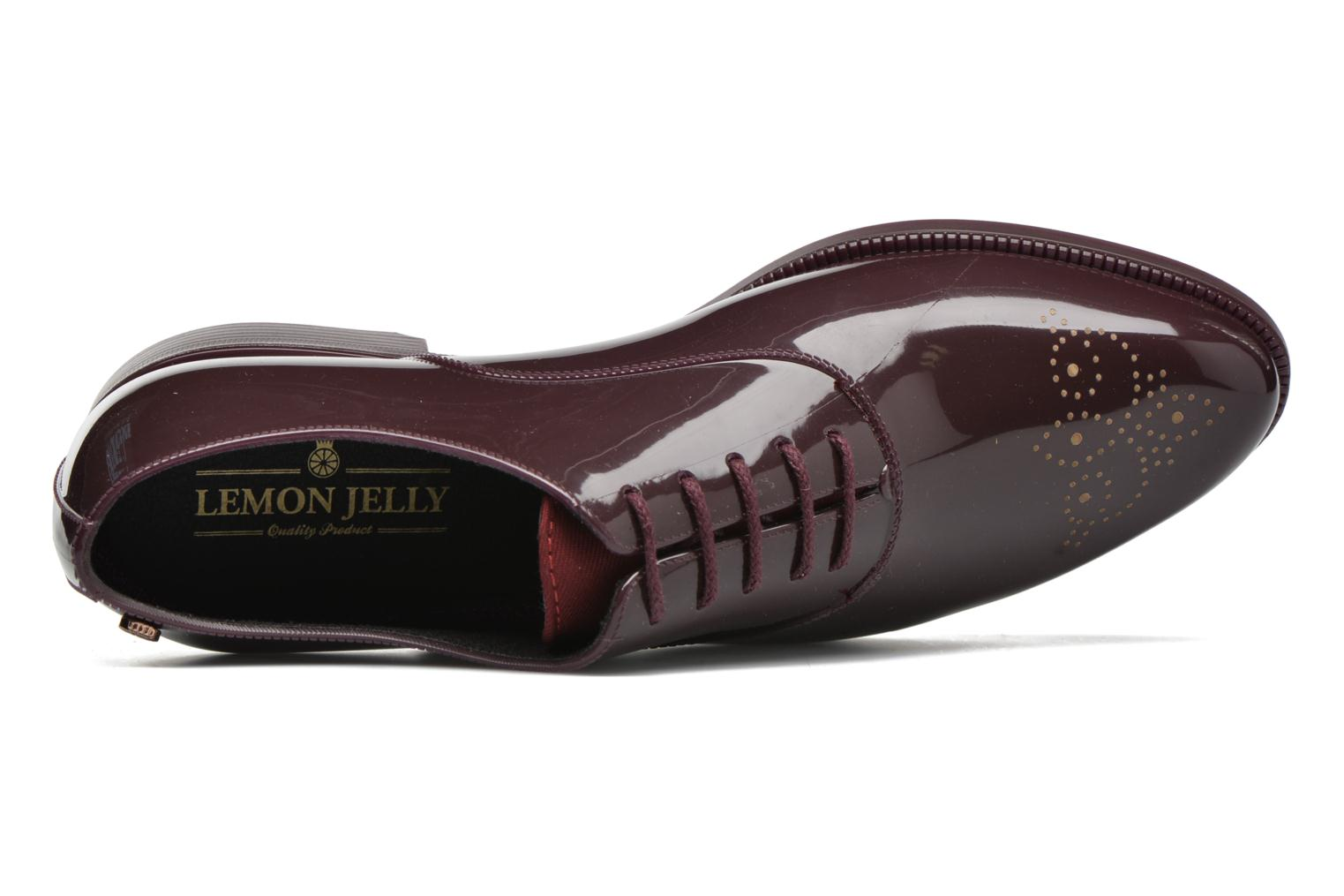 Lace-up shoes Lemon Jelly Jeny Burgundy view from the left
