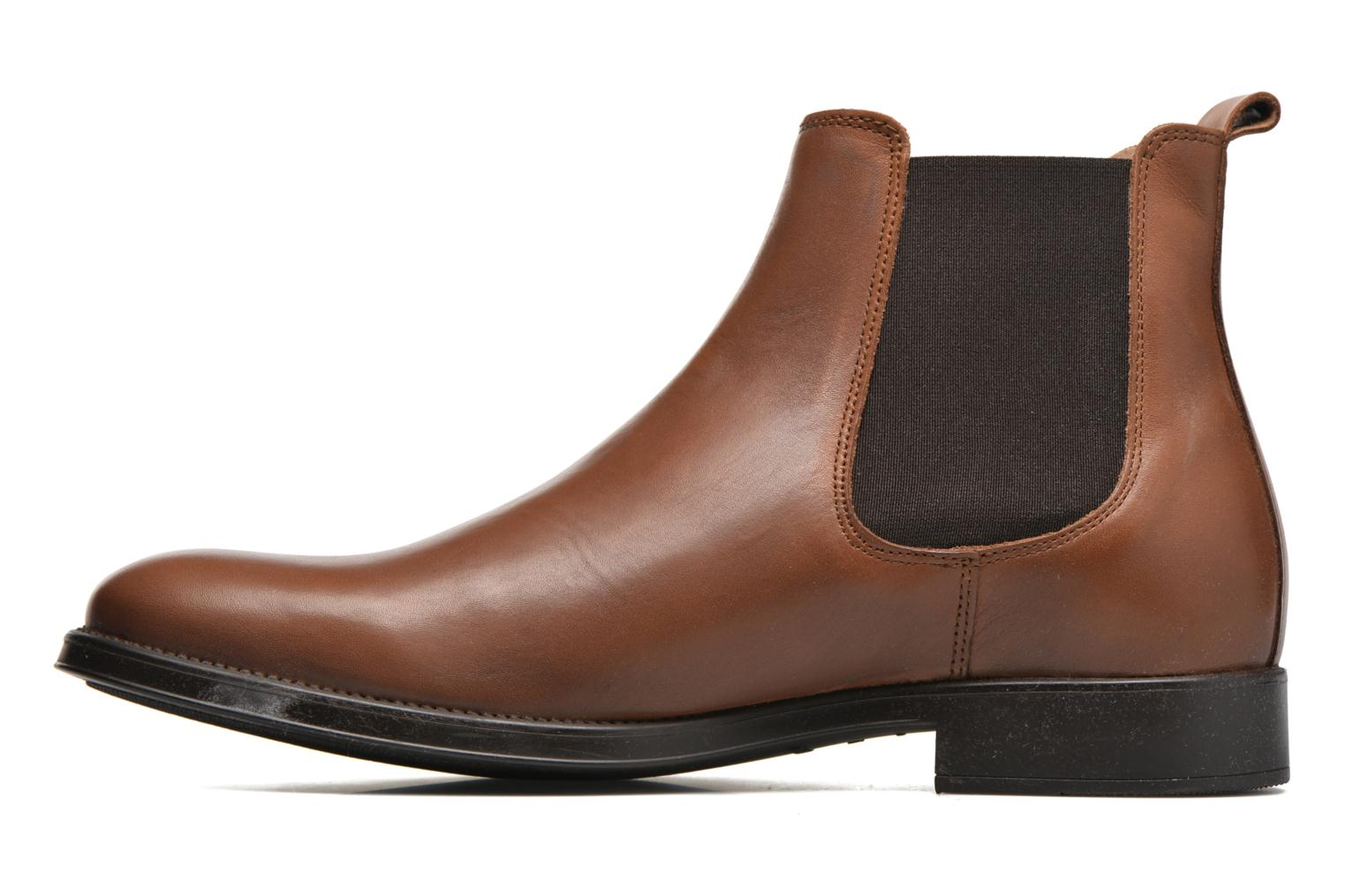 Bottines et boots Selected Homme Oliver Marron vue face