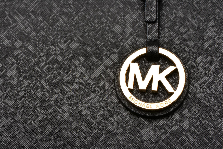 Bolsos de mano Michael Michael Kors JET SET Travel MD TZ Multifonction Tote Negro vista lateral izquierda