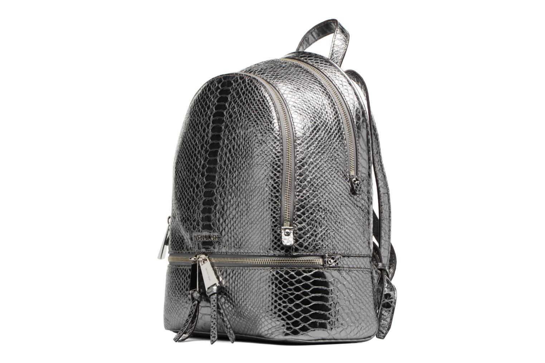 Sacs à dos Michael Michael Kors RHEA ZIP MD Backpack Argent vue portées chaussures