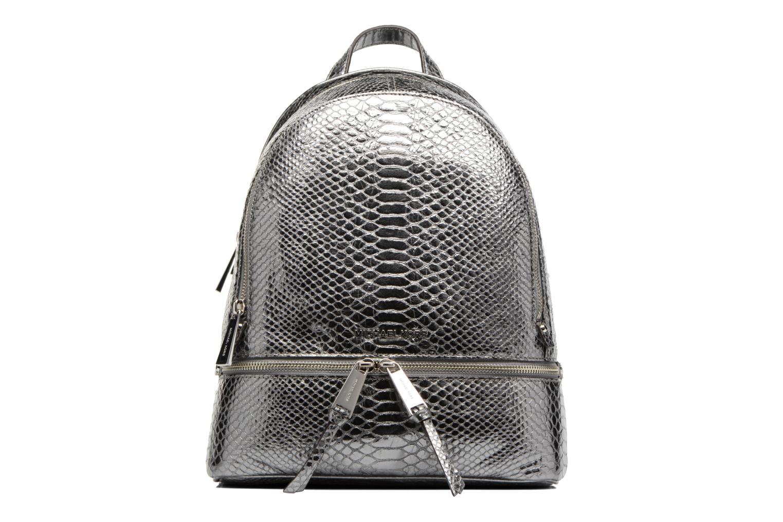 Sacs à dos Michael Michael Kors RHEA ZIP MD Backpack Argent vue détail/paire