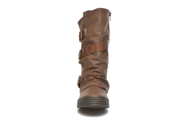 Bottes Blowfish Orlando Marron vue portées chaussures