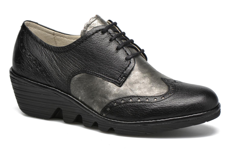 Chaussures à lacets Fly London Palt Noir vue détail/paire