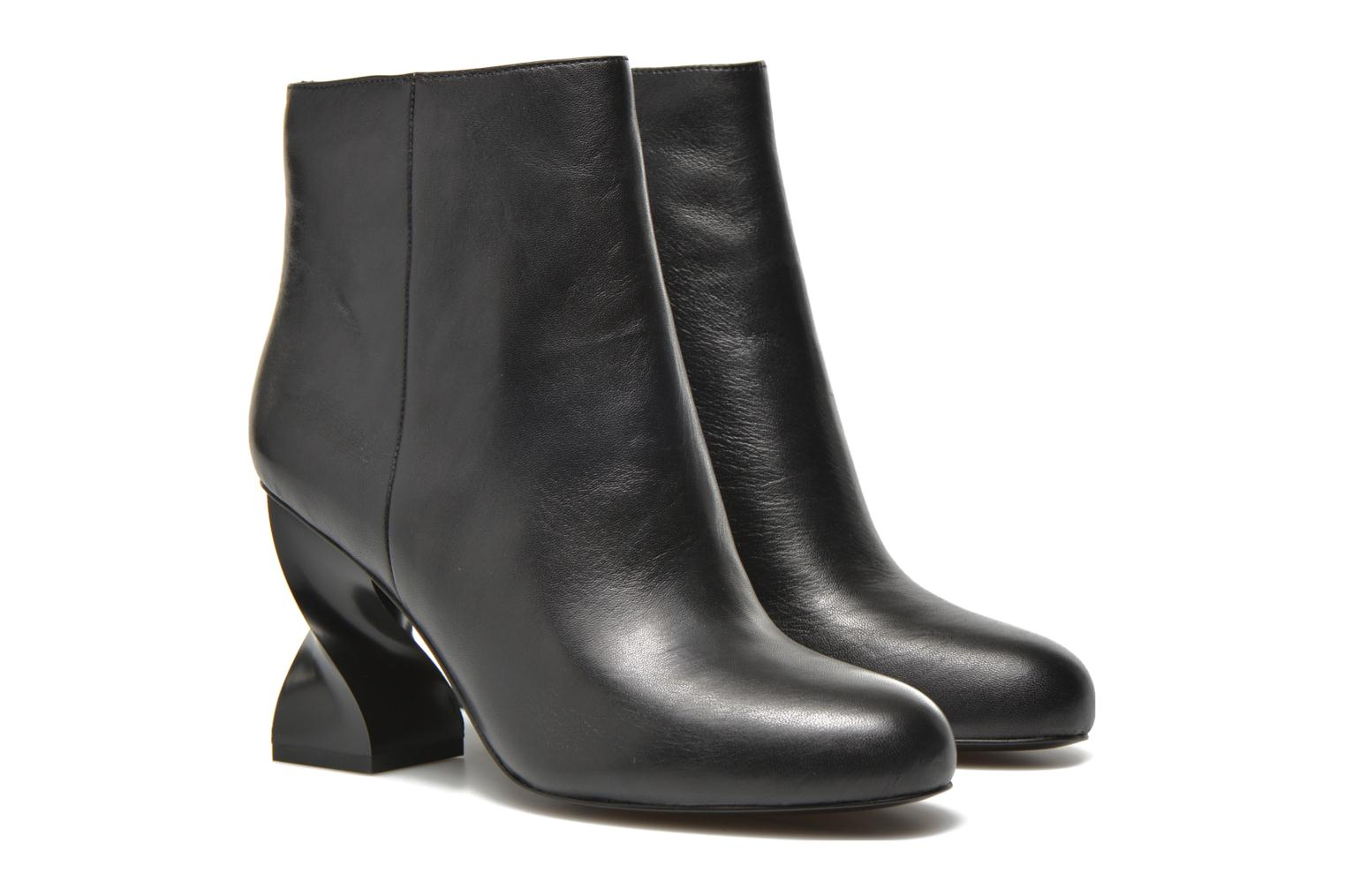Ankle boots Opening Ceremony ELOYSE TWISTED HIGH HEEL BOOTIE Black 3/4 view