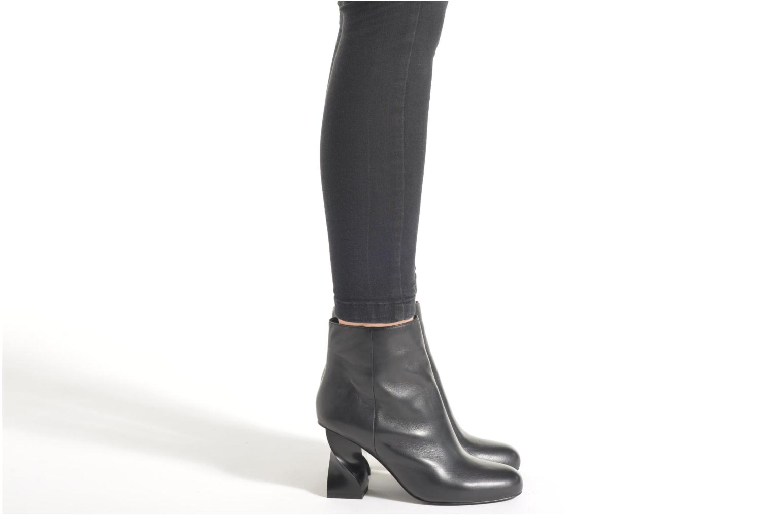 Ankle boots Opening Ceremony ELOYSE TWISTED HIGH HEEL BOOTIE Black view from underneath / model view