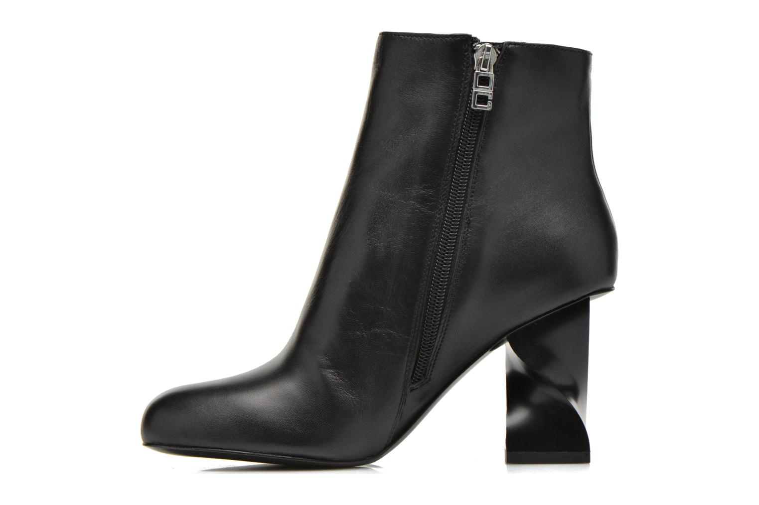 Ankle boots Opening Ceremony ELOYSE TWISTED HIGH HEEL BOOTIE Black front view
