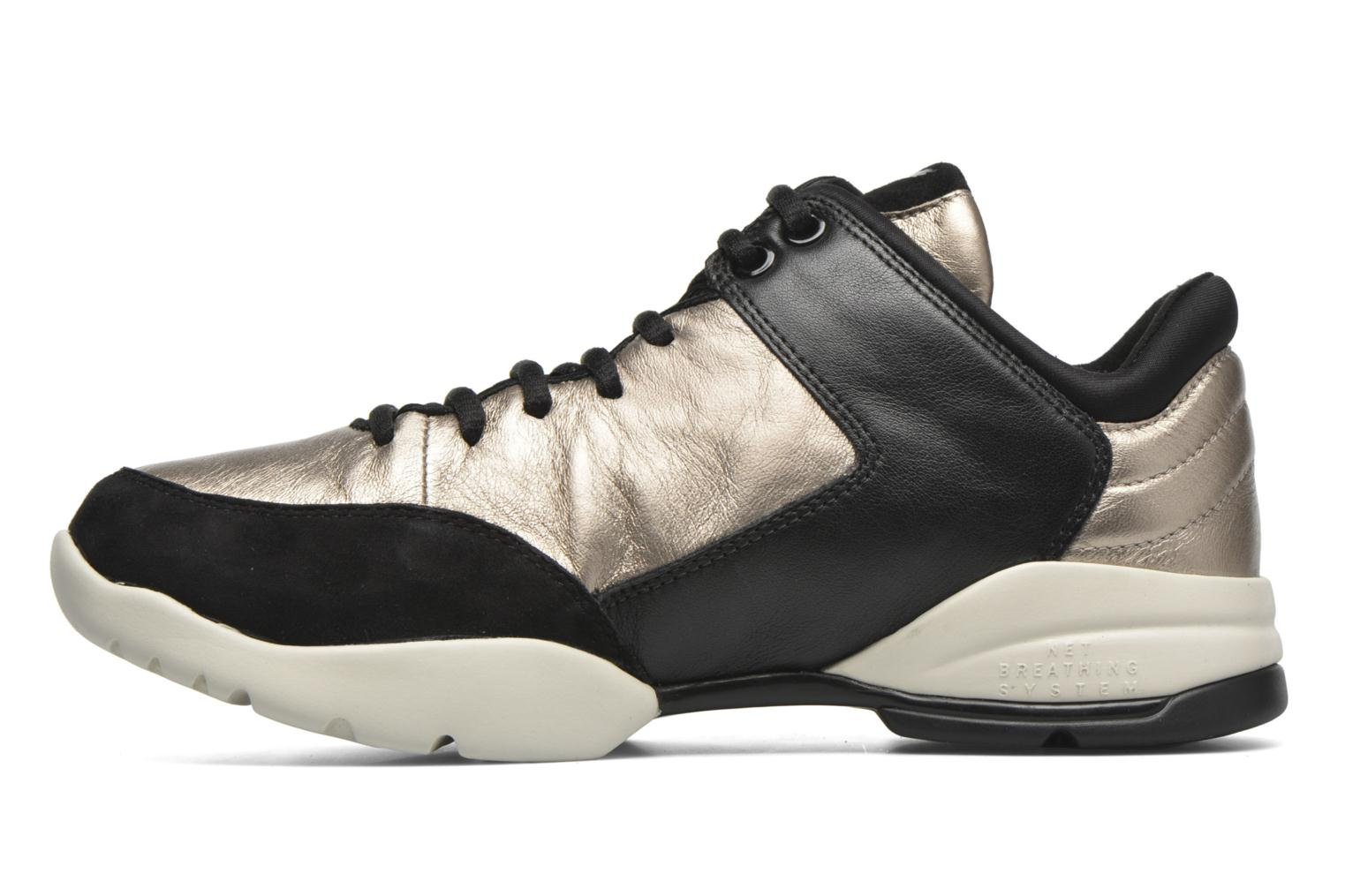 Trainers Geox D SFINGE A D642NA Bronze and Gold front view