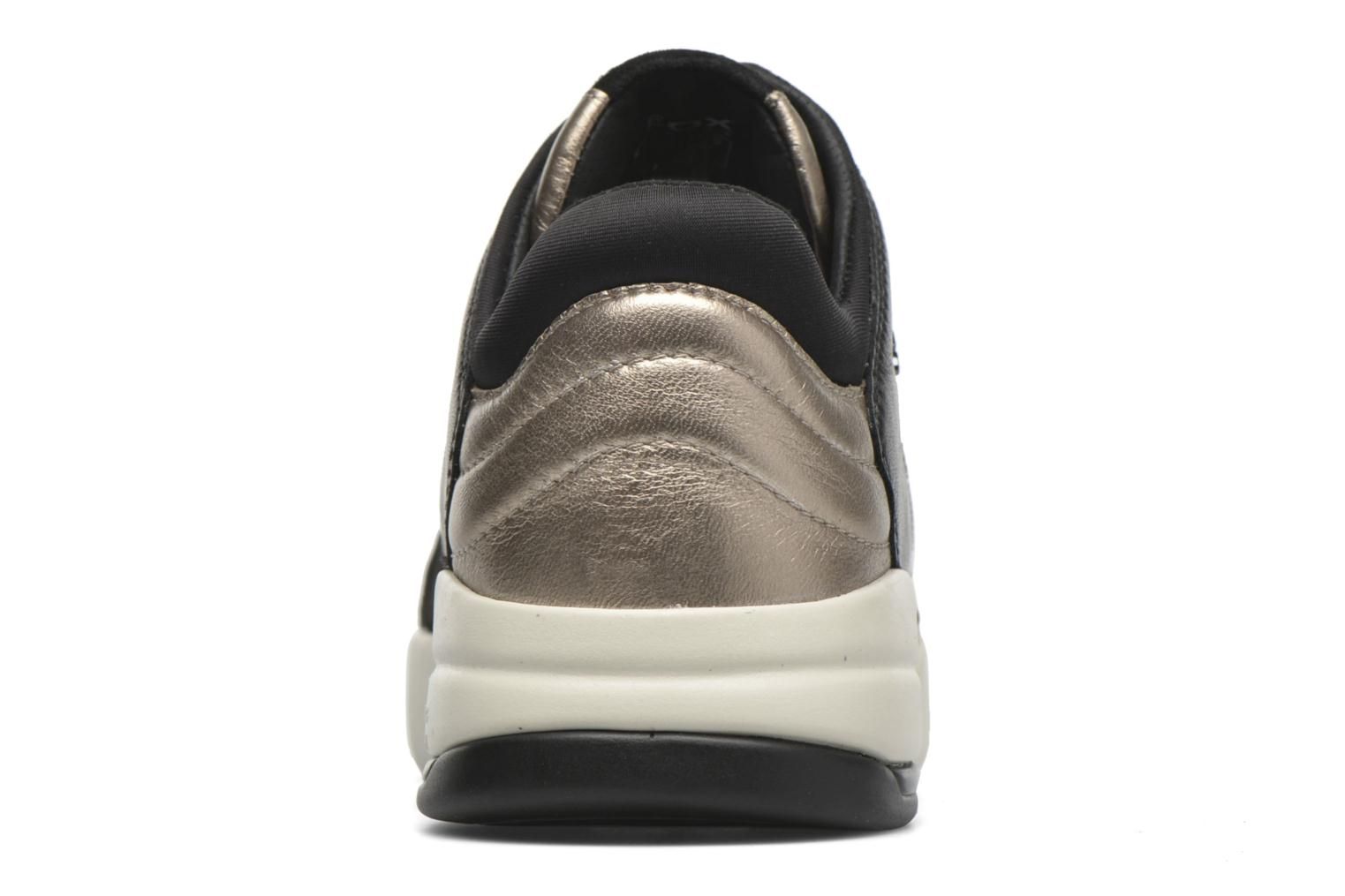 Trainers Geox D SFINGE A D642NA Bronze and Gold view from the right