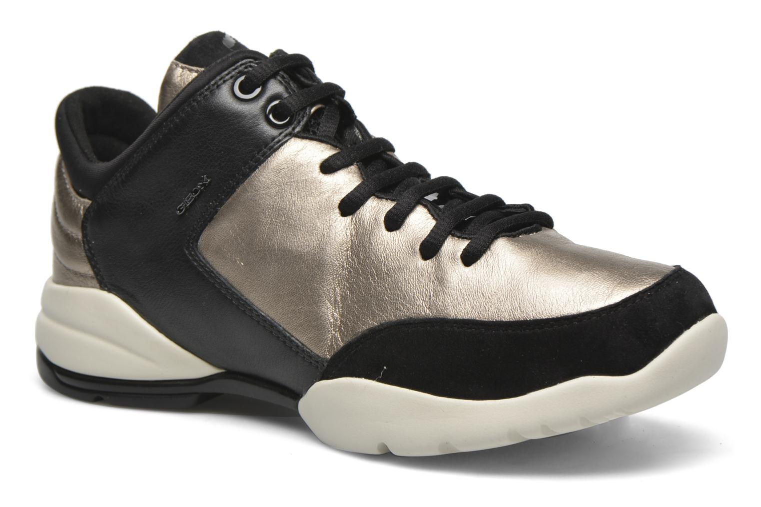 Trainers Geox D SFINGE A D642NA Bronze and Gold detailed view/ Pair view