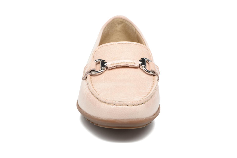 Mocassins Geox D ELIDIA B D642TB Rose vue portées chaussures