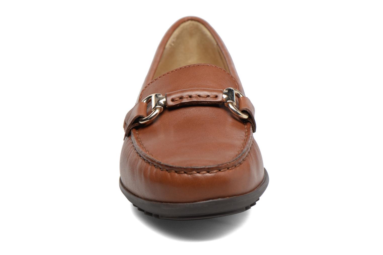 Mocassins Geox D ELIDIA B D642TB Marron vue portées chaussures
