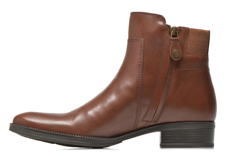 Bottines et boots Geox D MENDI ST A D6490A Marron vue face