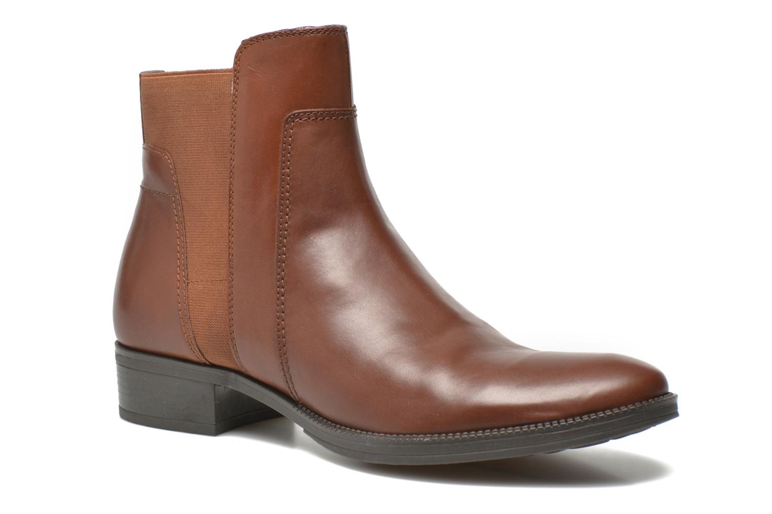 Ankle boots Geox D MENDI ST A D6490A Brown detailed view/ Pair view