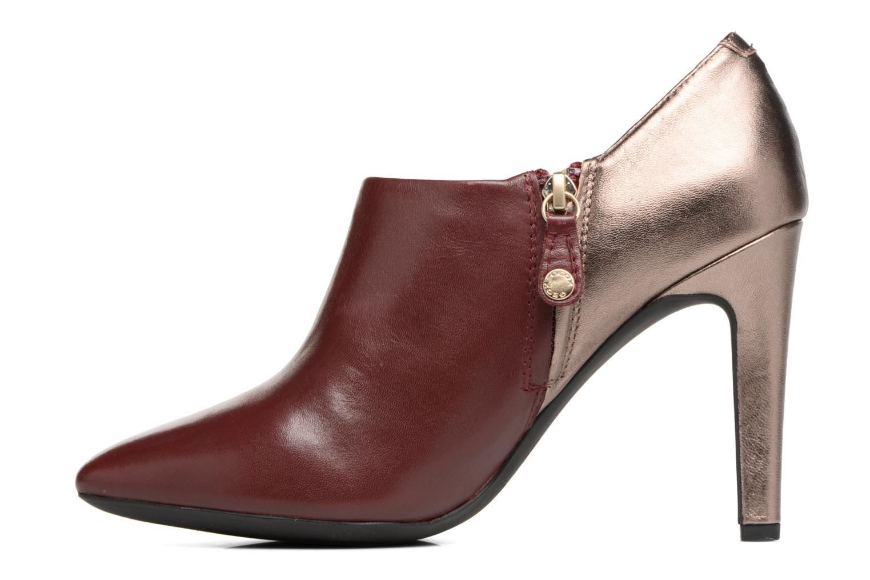 Bottines et boots Geox D CAROLINE A D64W1A Bordeaux vue face