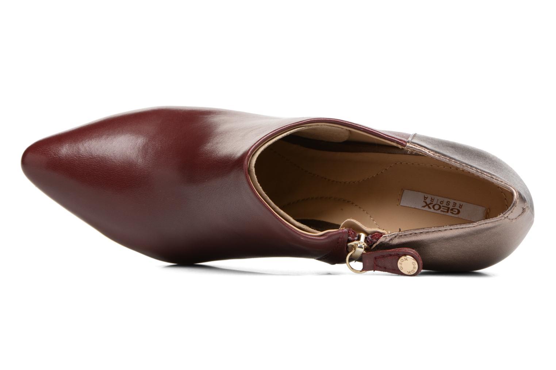 Bottines et boots Geox D CAROLINE A D64W1A Bordeaux vue gauche
