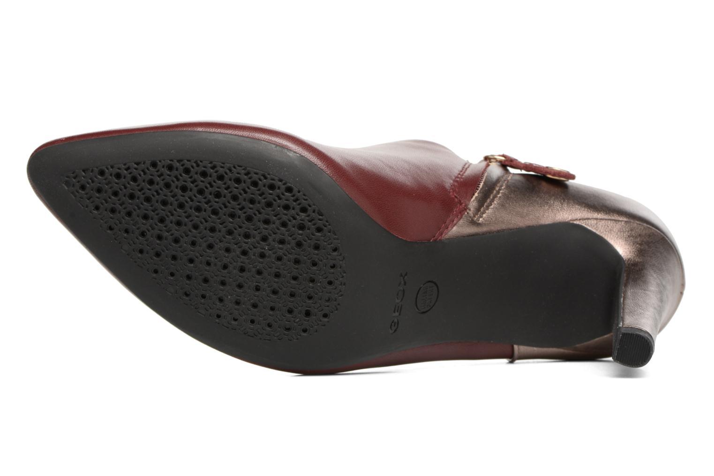 Boots en enkellaarsjes Geox D CAROLINE A D64W1A Bordeaux boven
