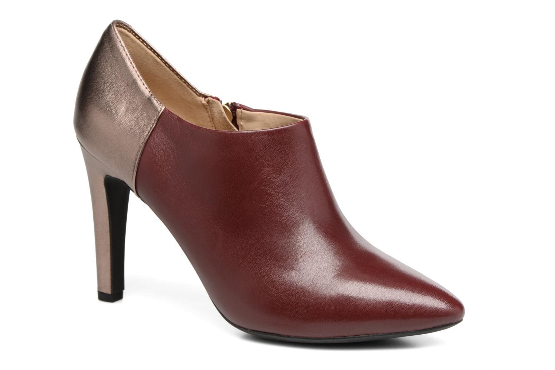 Bottines et boots Geox D CAROLINE A D64W1A Bordeaux vue détail/paire