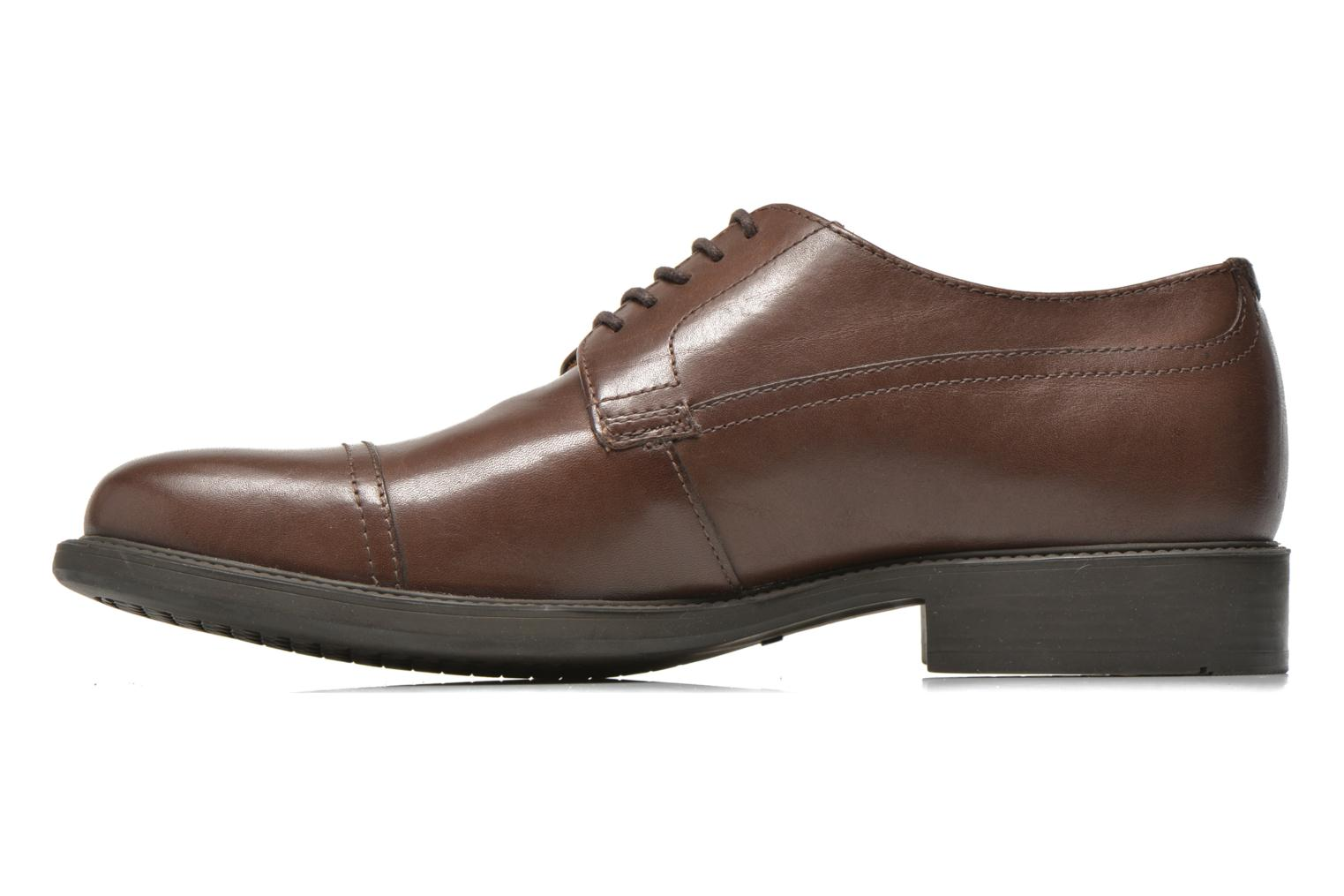 Chaussures à lacets Geox U CARNABY G U64W1G Marron vue face