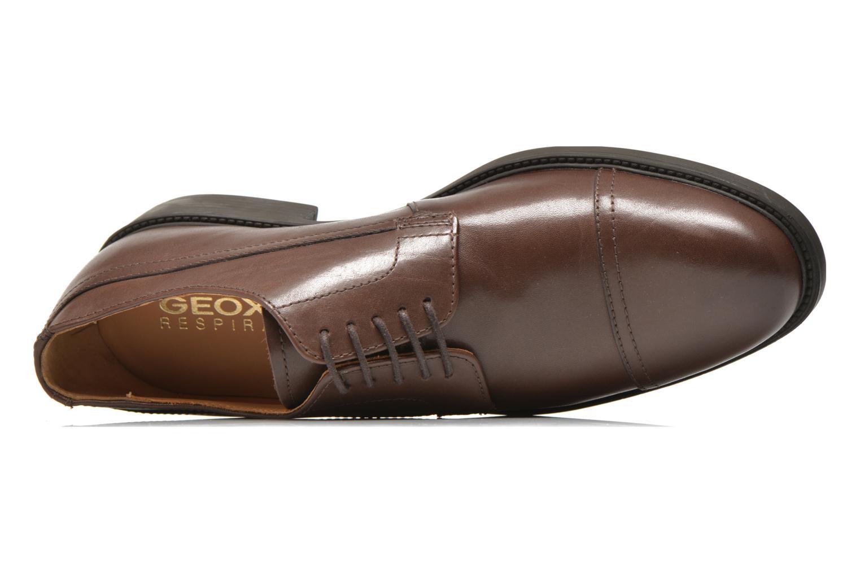 Chaussures à lacets Geox U CARNABY G U64W1G Marron vue gauche