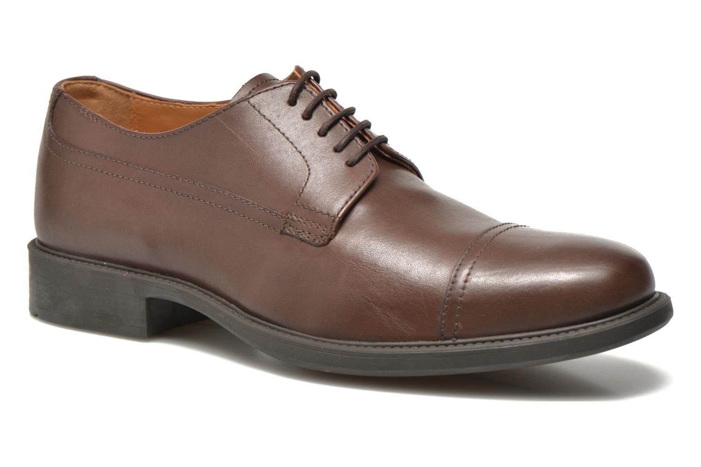 Chaussures à lacets Geox U CARNABY G U64W1G Marron vue détail/paire