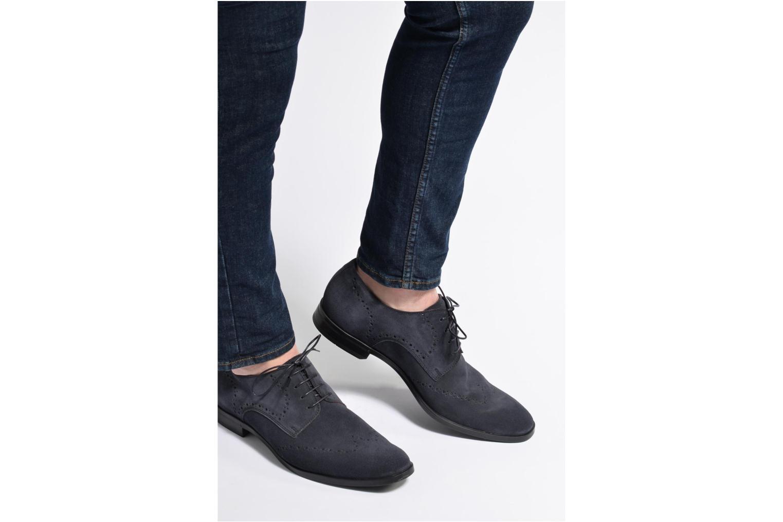 Chaussures à lacets Marvin&Co Nottingham Bleu vue bas / vue portée sac