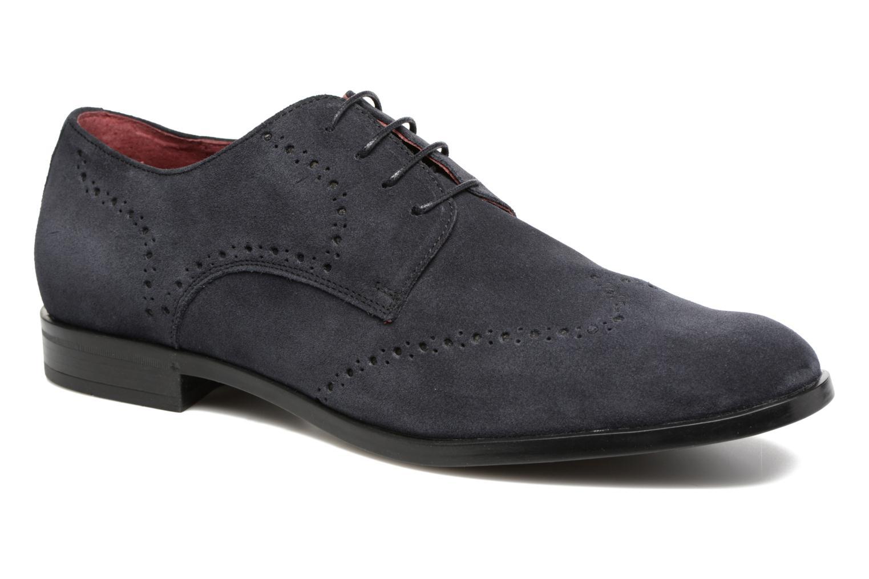 Chaussures à lacets Marvin&Co Nottingham Bleu vue détail/paire