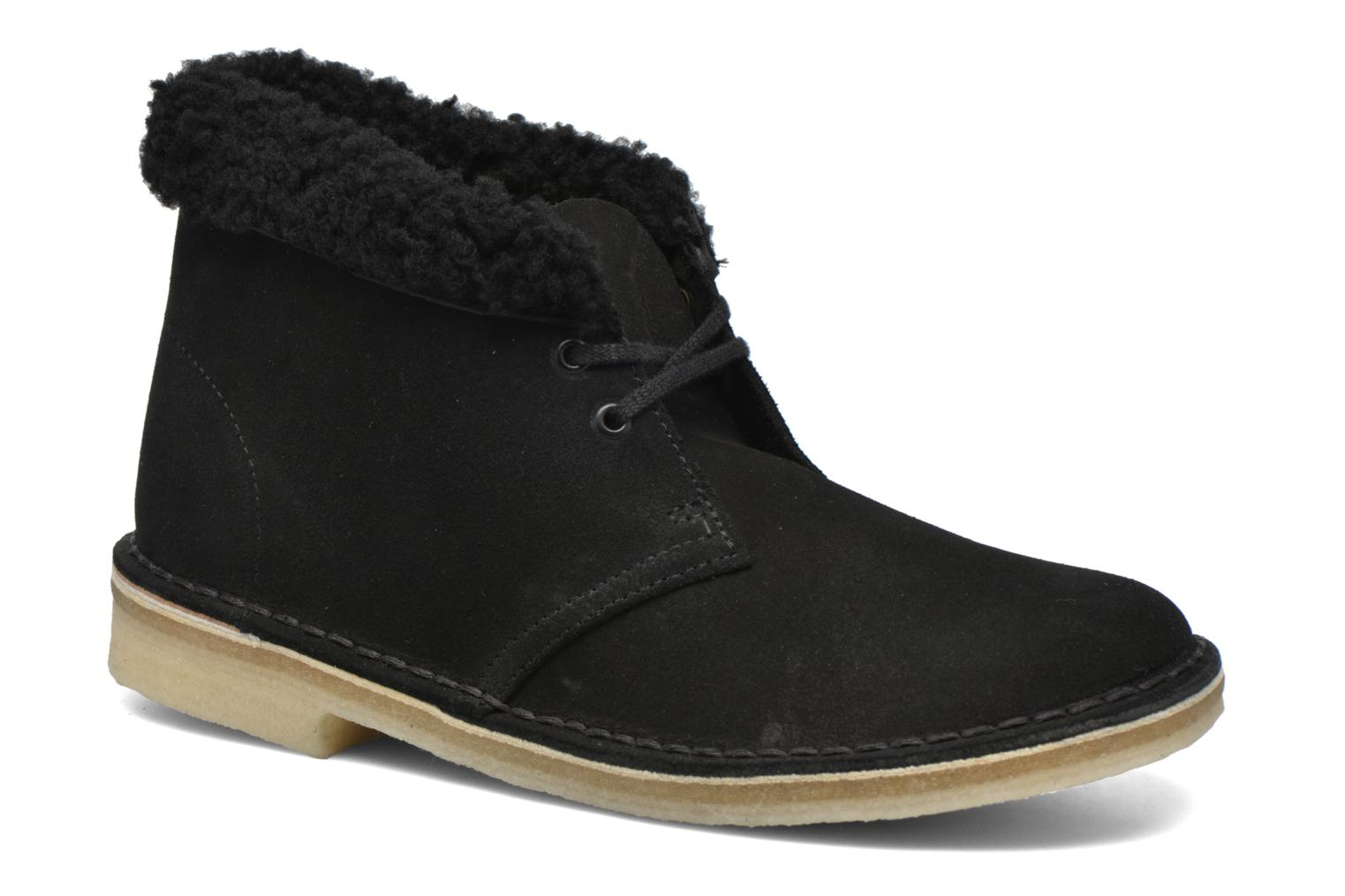 DESERT BOOT WOOL LINED W Black Suede