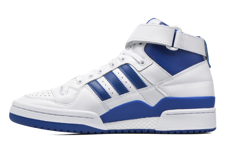 Baskets Adidas Originals Forum Mid Refined Blanc vue face