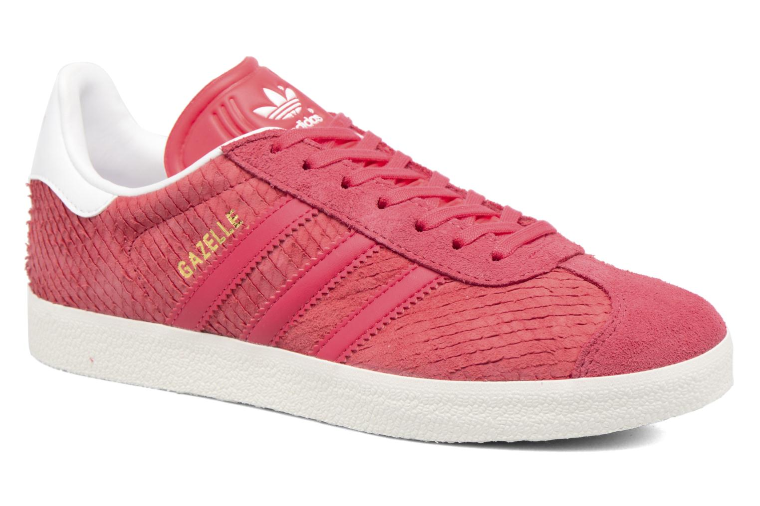 Baskets Adidas Originals Gazelle W Rouge vue détail/paire
