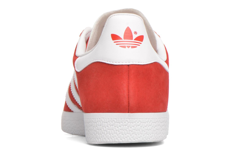 Baskets Adidas Originals Gazelle Rouge vue droite