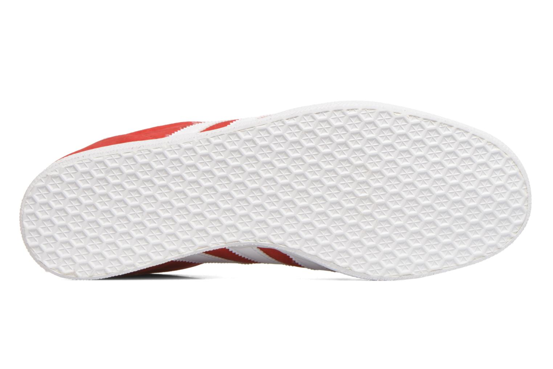 Baskets Adidas Originals Gazelle Rouge vue haut