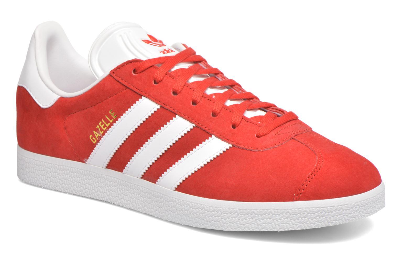 Baskets Adidas Originals Gazelle Rouge vue détail/paire