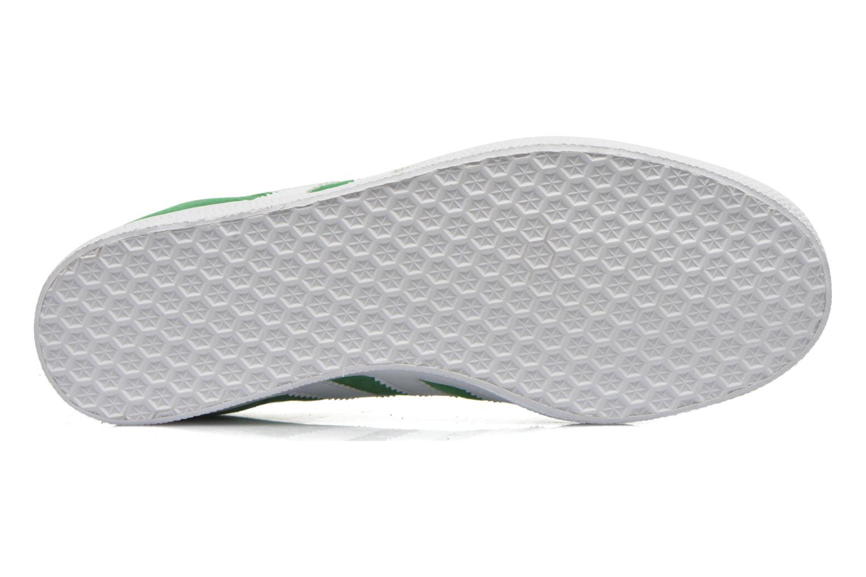 Baskets Adidas Originals Gazelle Vert vue haut