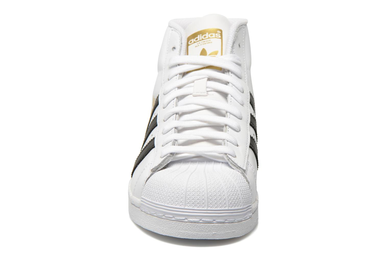 Baskets Adidas Originals Pro Model Blanc vue portées chaussures