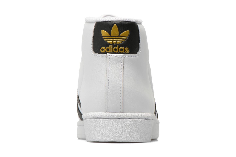 Baskets Adidas Originals Pro Model Blanc vue droite
