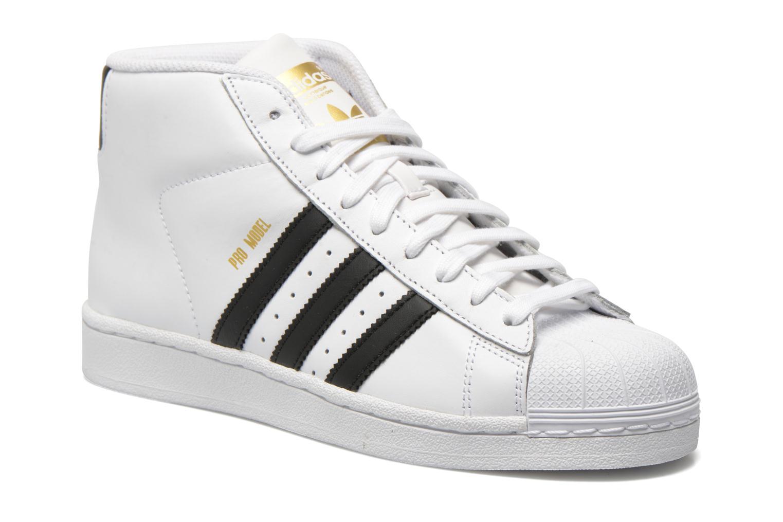 Baskets Adidas Originals Pro Model Blanc vue détail/paire