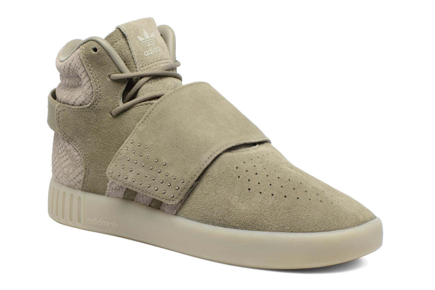 Sneakers Adidas Originals Tubular Invader Strap Groen detail