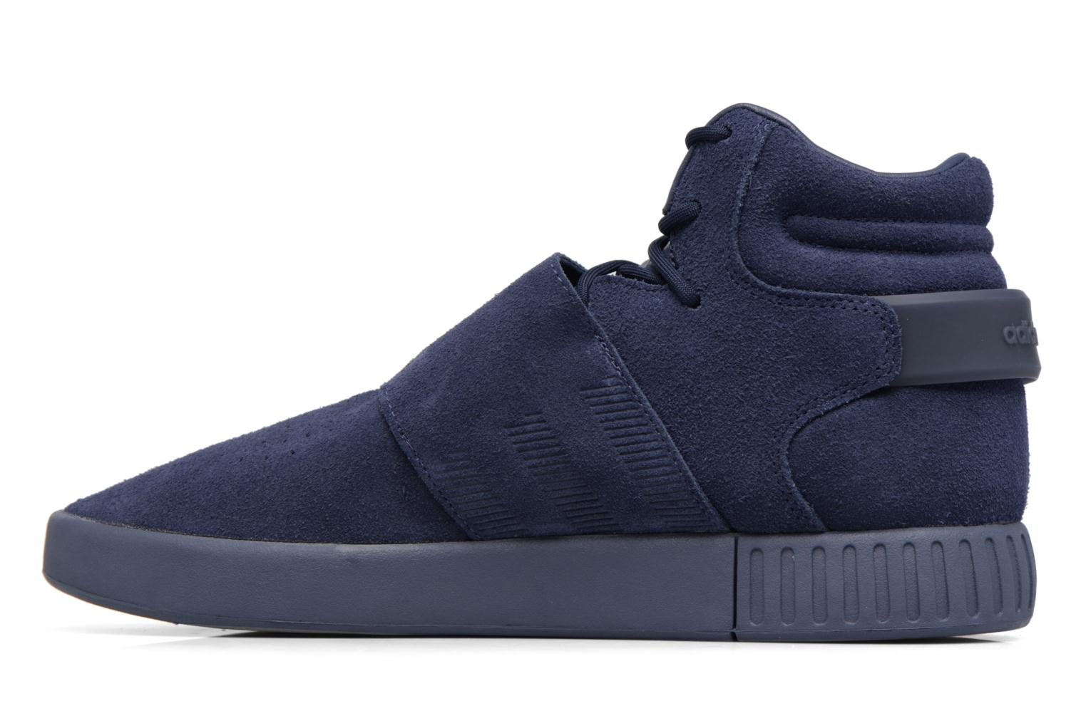Baskets Adidas Originals Tubular Invader Strap Bleu vue face