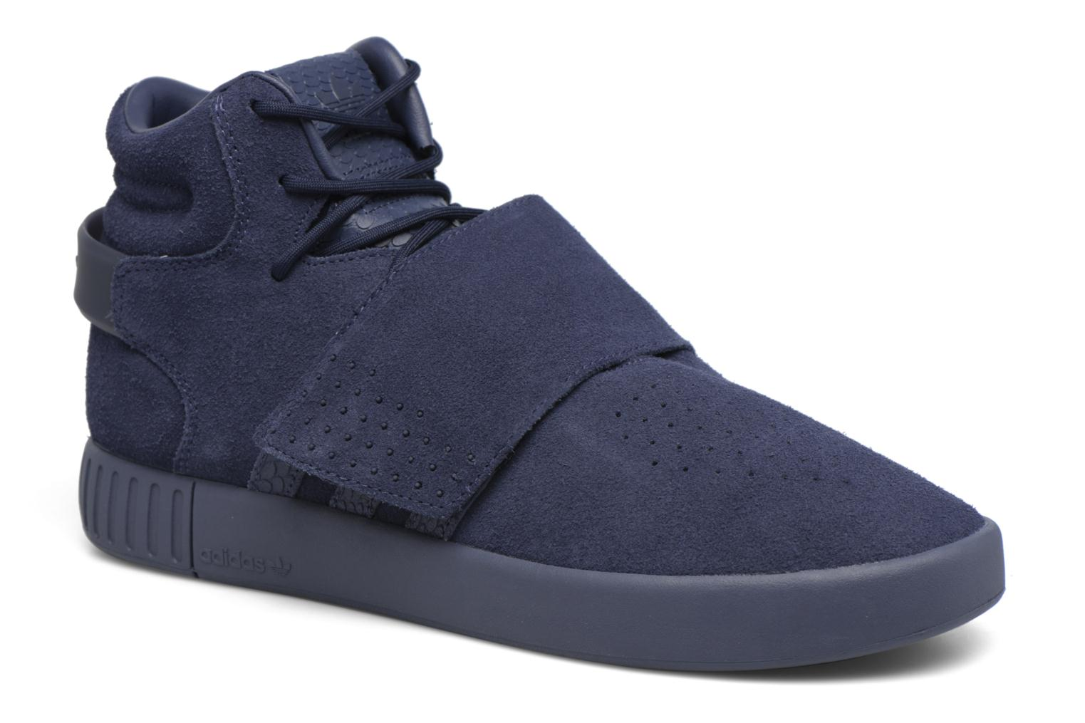 Baskets Adidas Originals Tubular Invader Strap Bleu vue détail/paire
