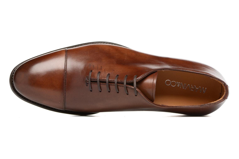 Snörade skor Marvin&Co Luxe Perchok Brun bild från vänster sidan