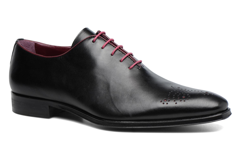Snøresko Marvin&Co Luxe Perrowne Sort detaljeret billede af skoene