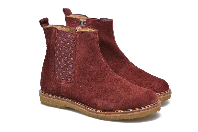 Bottines et boots Pom d Api Pat Jodzip Bordeaux vue 3/4