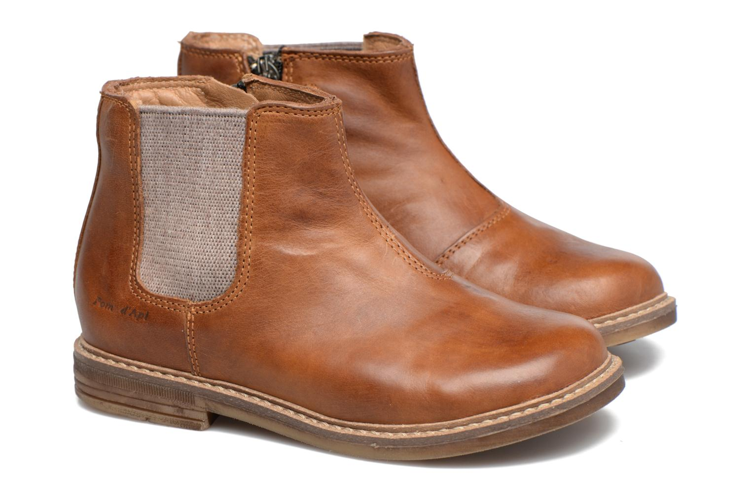 Bottines et boots Pom d Api Retro Jodzip Marron vue 3/4