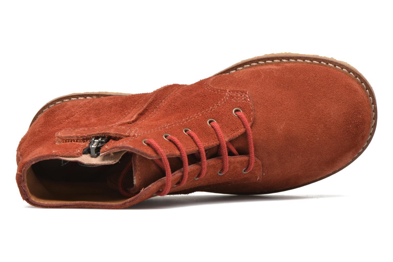 Bottines et boots Pom d Api Pat Brogue Orange vue gauche
